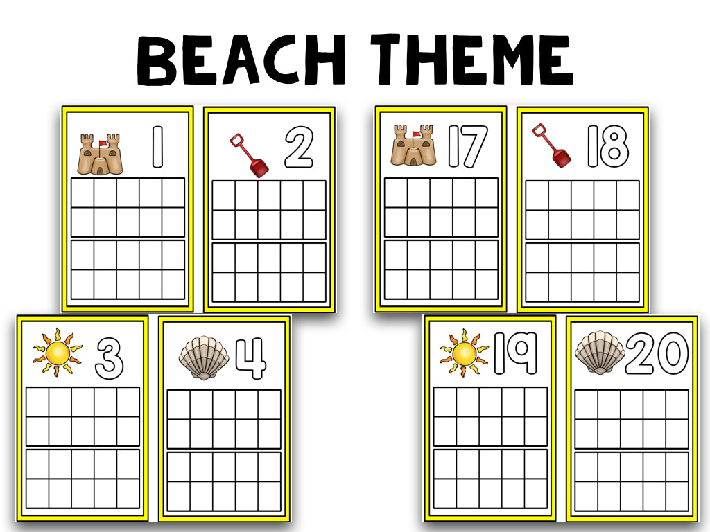 Summer Ten Frame Cards! – The Kindergarten Smorgasboard Online Store