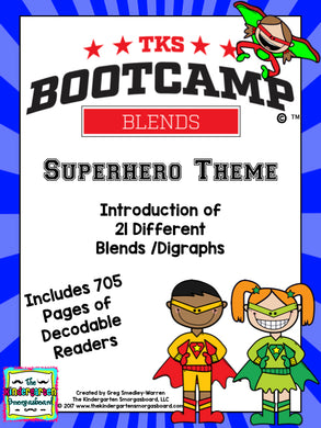 Blends Bootcamp! Superhero Theme