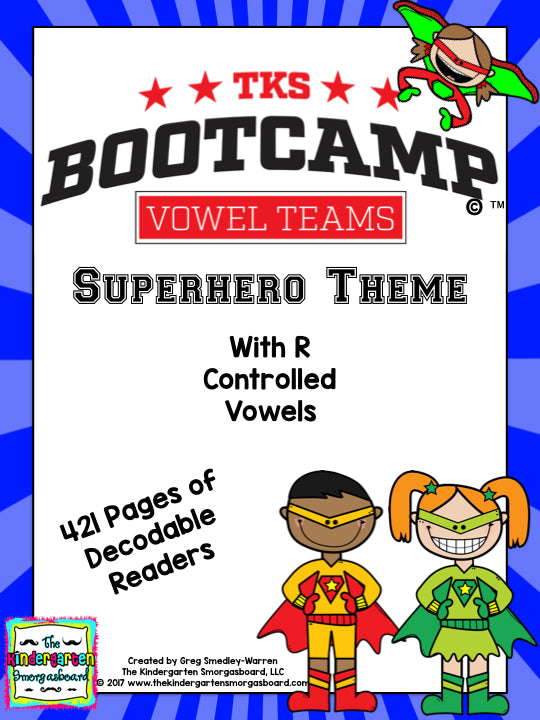 Vowel Teams Bootcamp (Superhero Theme)