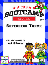 Shapes Bootcamp: A 2D and 3D Shapes Unit (Superhero Theme)