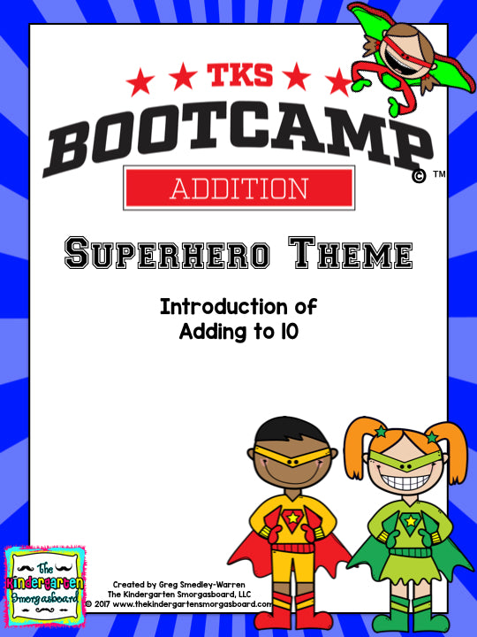 Addition Bootcamp: Adding to 10 (Superhero Theme)