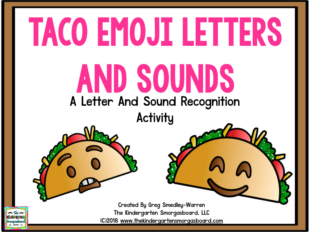 Taco Emoji Letters & Sounds