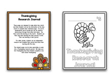 Thanksgiving: A Research and Writing Project PLUS Centers!