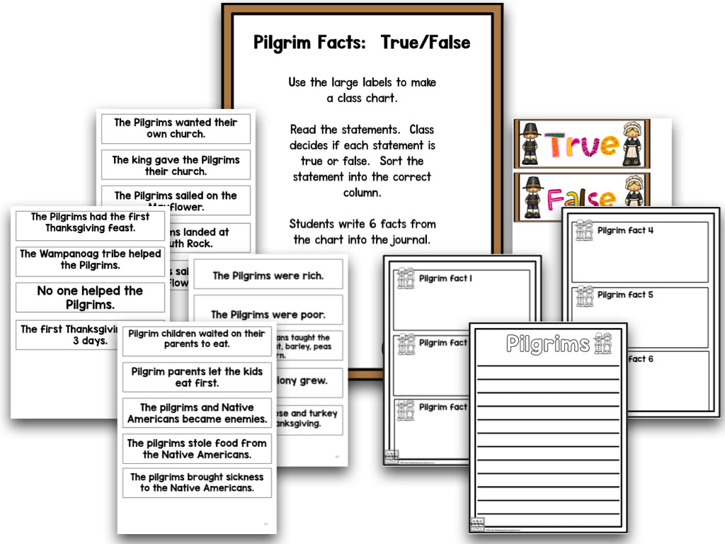 Thanksgiving: A Research and Writing Project PLUS Centers