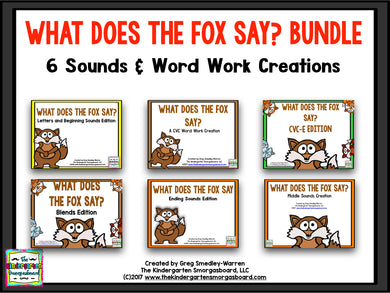 What Does the Fox Say? A Word Work BUNDLE!