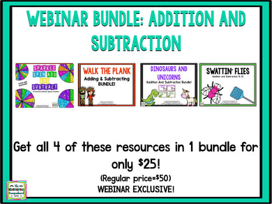 Webinar Bundle: Addition & Subtraction