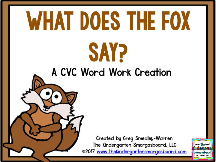 What Does the Fox Say? A CVC Word Creation