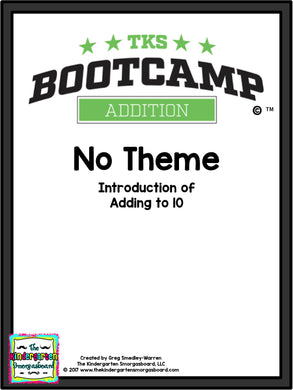 Addition Bootcamp: Adding to 10 (No Theme)
