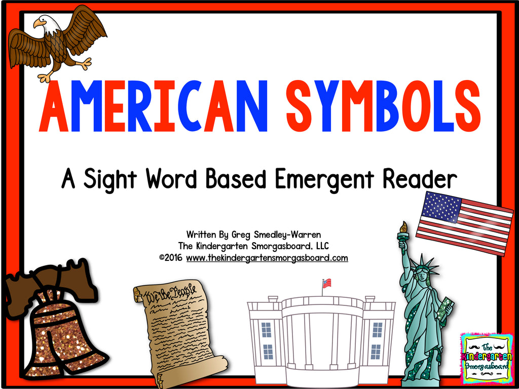 american symbols emergent reader the kindergarten smorgasboard online store. Black Bedroom Furniture Sets. Home Design Ideas