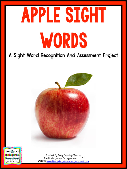 Apple Sight Words Assessment Project