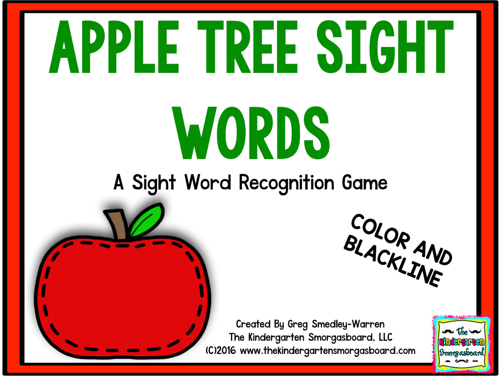 Apple Tree Sight Words