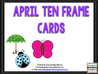 April Ten Frames