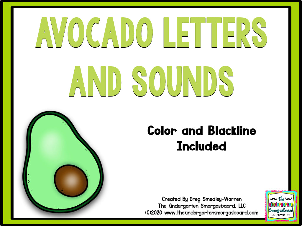 Avocado Letters and Sounds