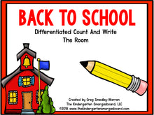 Back to School: Differentiated Count and Write the Room