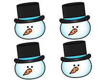 Build a Snowman Editable Sight Words Assessment Project