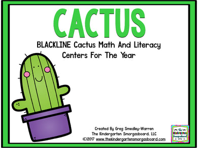 Cactus Blackline Math and Literacy Centers for the Whole Year!