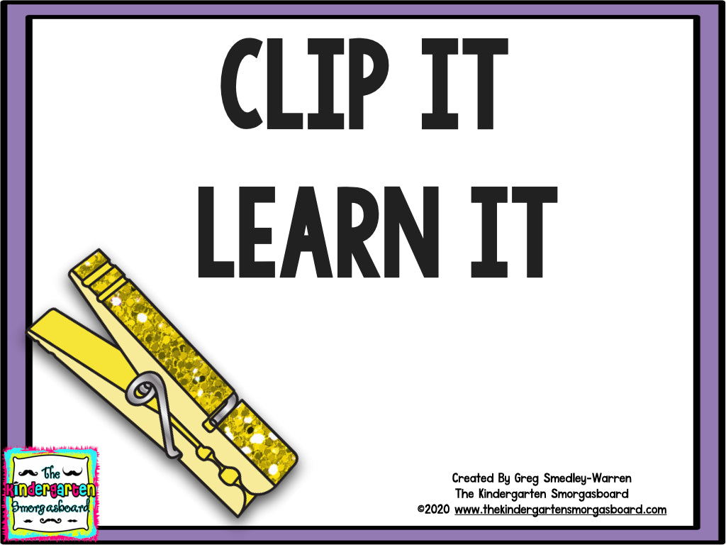Clip It! Learn It! Math and Literacy Centers