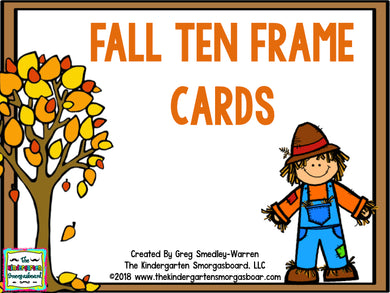 Fall Ten Frame Cards