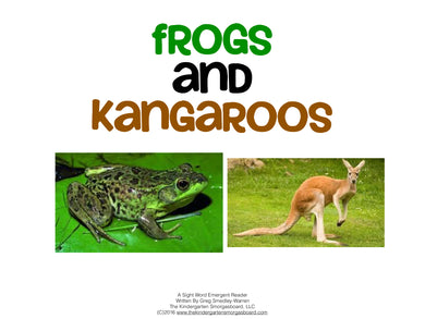 Frogs & Kangaroos! Emergent Reader