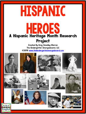 Hispanic Heroes Month: A Research and Writing Project