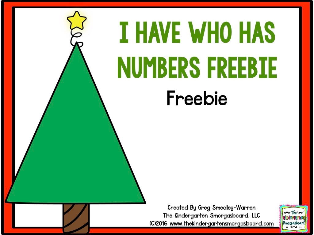 I Have, Who Has? Christmas Numbers FREEBIE!