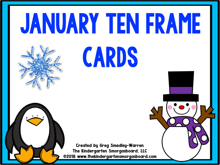 Ten Frames Games Through The Year | The Kindergarten Smorgasboard