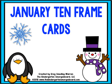 January Ten Frame Cards