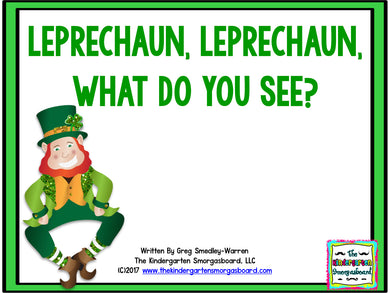 Leprechaun, Leprechaun, What Do You See? Emergent Reader