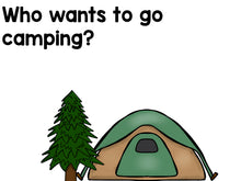 Let's Go Camping! Emergent Reader