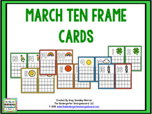 March Ten Frame Cards