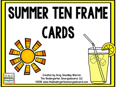 Summer Ten Frame Cards
