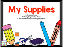 My Supplies Emergent Reader