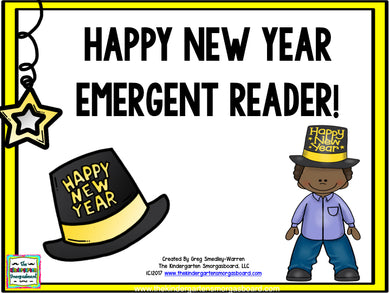 New Years Emergent Reader