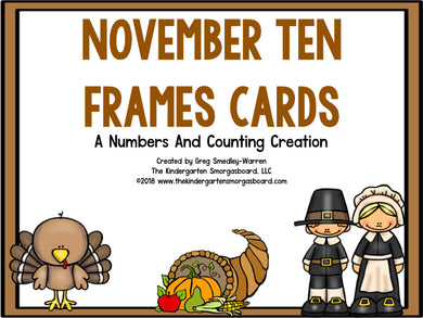 November Ten Frame Cards!