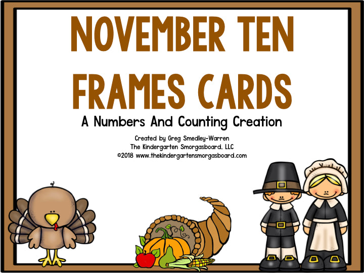 November Ten Frame Cards