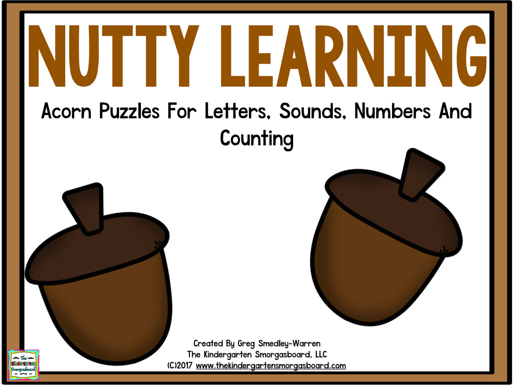 Nutty Learning: Letters, Sounds, Numbers, and Counting