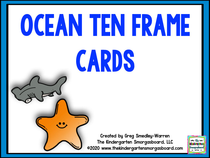 Ocean Ten Frame Cards