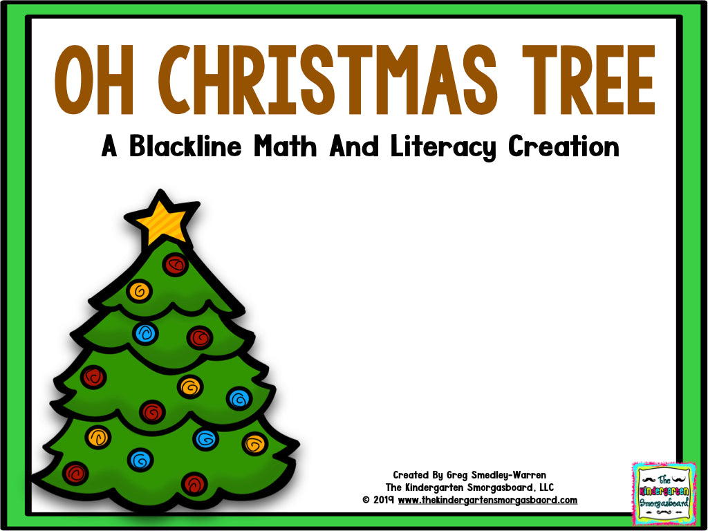Christmas Tree Blackline Math and Literacy Centers