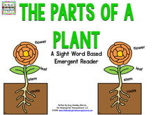 The Parts Of A Plant! Emergent Reader