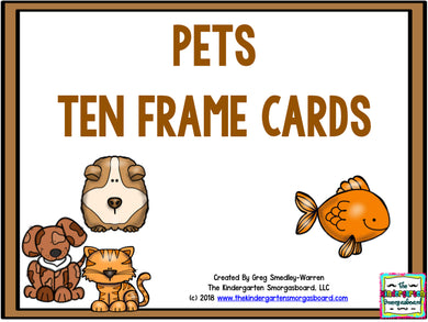Pets Ten Frame Cards!