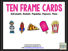 Ten Frame Cards - Popcorn, Pizza, Rockets & Astronauts