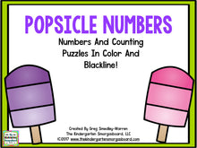 Popsicle Numbers & Counting