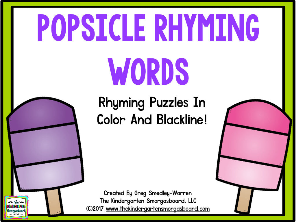 Popsicle Rhyming Words