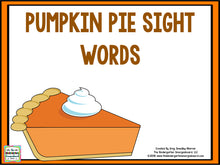 Pumpkin Pie Sight Words