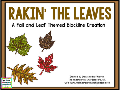 Rakin' The Leaves BLACKLINE Math and Literacy Centers