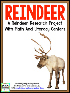 Reindeer: A Research and Writing Project PLUS Centers!