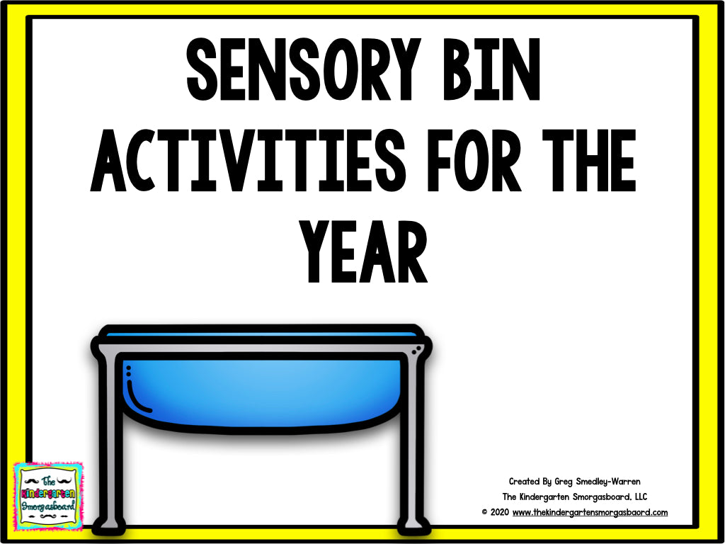 Webinar Exclusive - Sensory Bin Activities