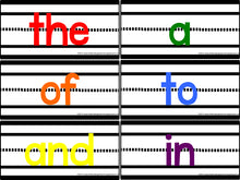 Colorful Sentence Strip Sight Words