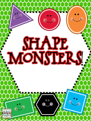 Shape Monster Freebie