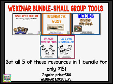 Webinar Bundle - Small Group Tools